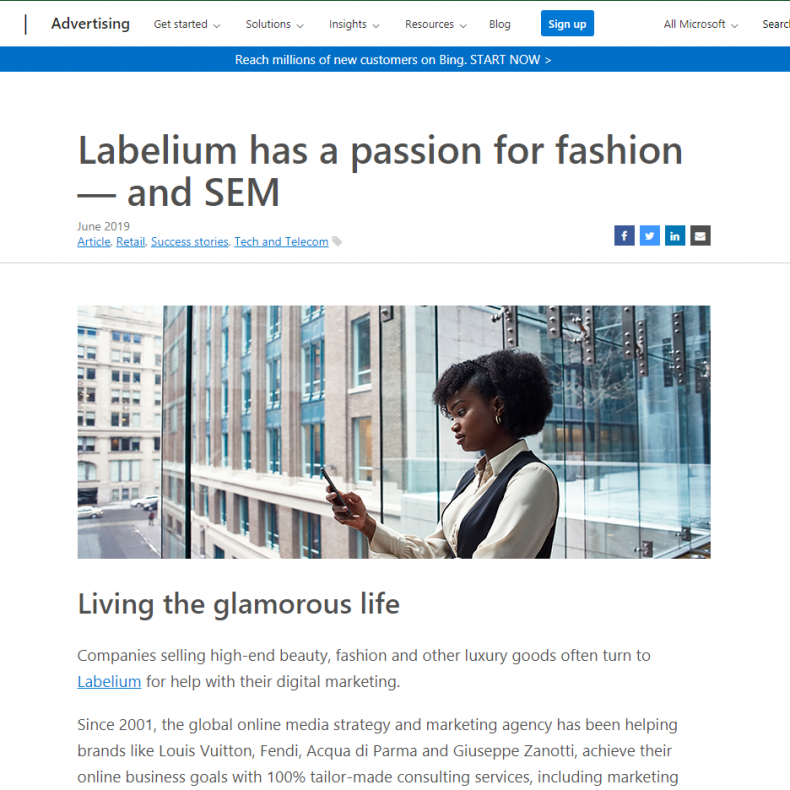 Labelium has a passion for fashion — and SEM