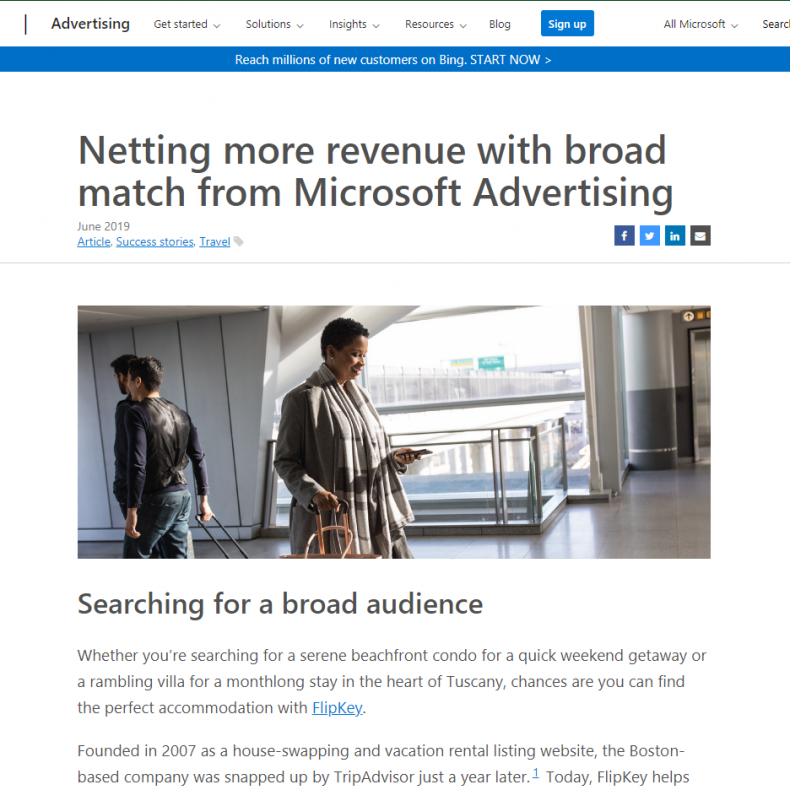 Netting more revenue with broad match from Microsoft Advertising